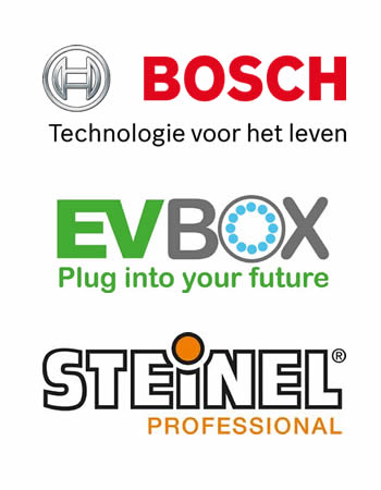 Stap Elektra is dealer van o.a. Bosch, EV-Box en Steinel